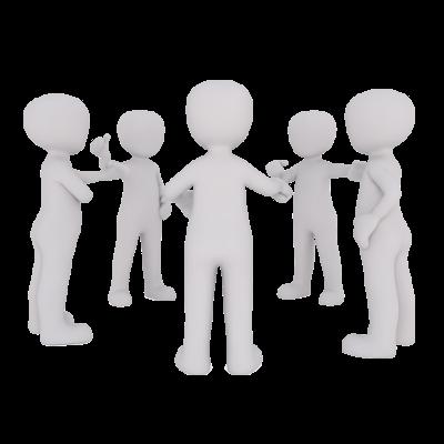 Personnages formant un cercle