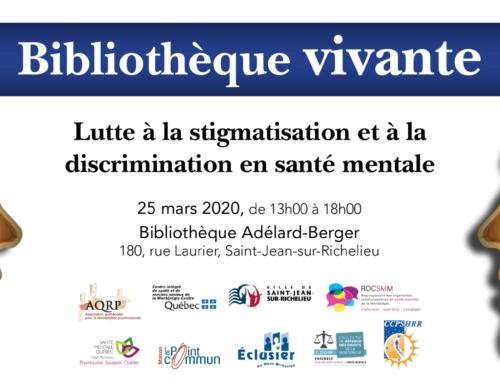 Bibliothèque vivante 2020 (Reporté à une date ultérieure)